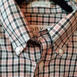 Orvis Plaid Wrinkle Free Button Up Shirt SZ S